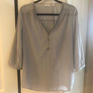 New York & Company Half-Zip Blouse